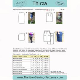 Marijke Sewing Patterns - Thirza - Maat 36 - 56