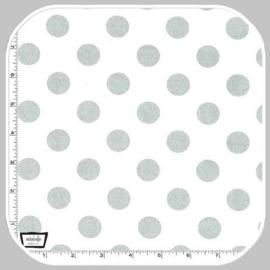 quarter dot pearlized- white silver   MC3744-PLAT-D
