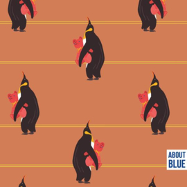 About Blue Fabrics | French Terry - GOTS - Never Grow Up - Penguins  Bedtime