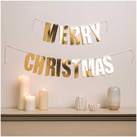 Papieren slinger | Merry Christmas | Goud