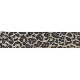Elastiek | Dierenprint | Lurex Jaguar