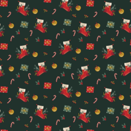 Poplin Christmas  - Dark Green