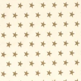 Katoen - Kerst | Ecru - Gouden ster