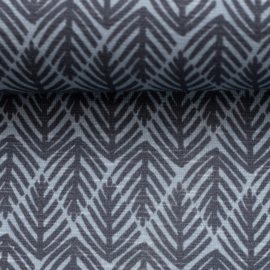 Swafing - Slub Jersey |  Tiny Palms by Cherry Picking - Blue