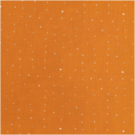 Rico Design | Double Gauze - Rust  - hot foil stip