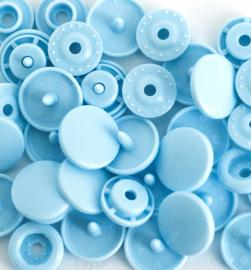 Kamsnaps - 12.4 mm - 25 stuks - Lichtblauw