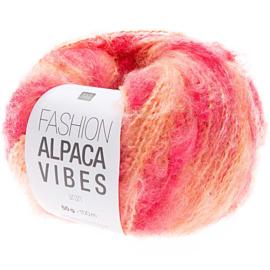 Fashion Alpaca Vibes Aran | Apricot - Fuchsia