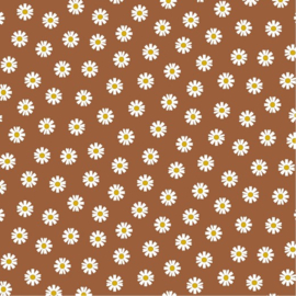 Katoen Poplin | Daisy Flower - Terra