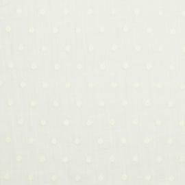 Cotton Slub Embroidery - Off White
