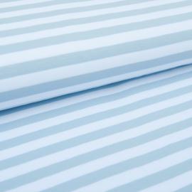 Tricot Streep | Wit - Lichtblauw