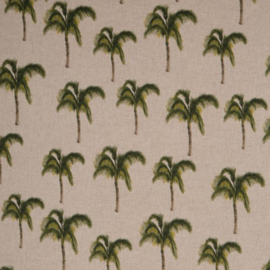 decostof Emil | linnen look | palmboom