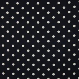 Cupro | Dots - Ecru - Zwart