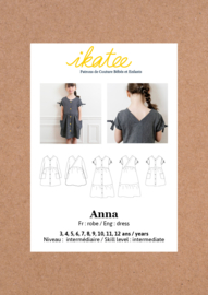 Ikatee | Anna dress - Girl 3/12Y - Paper Sewing Pattern