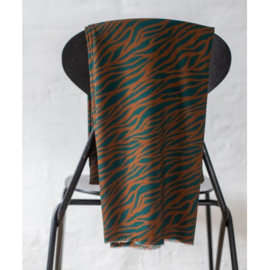 Mind the Maker | Zebra Teal - Ocre | Viscose