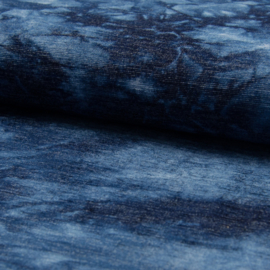 Chenille | Tie Dyed - Jeansblue