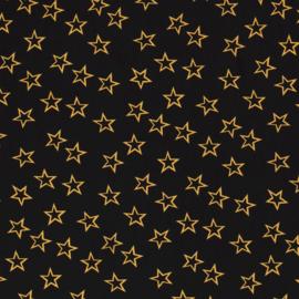 Viscose - Stars - Black Ochre