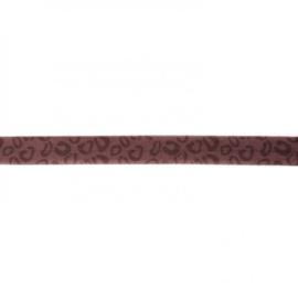 41255 elastisch biaisband tijger bruin 15mm