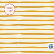 About Blue Fabrics | French Terry | Good Vibes only - Golden Spice Lines