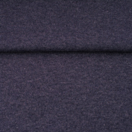 tricot boordstof melange | donkerblauw