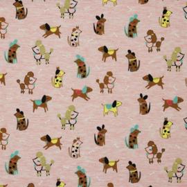 Tricot Print | Glitter Pretty Dog - Pink