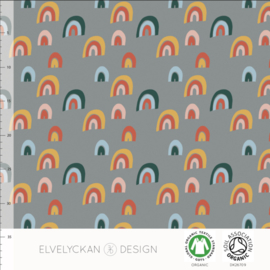 Elvelyckan design | Sweat | Rainbow - grey | Organic