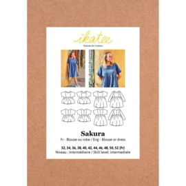 IKATEE   Sakura Blouse/dress 32-52 - Paper Sewing Pattern