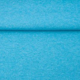tricot boordstof melange | aqua
