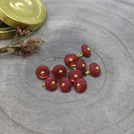 Atelier Brunette  Buttons |  Jewel - Terracotta   9 mm