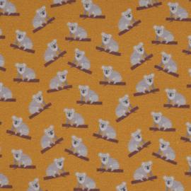 Katoen Print | Swafing - Koala - Okergeel