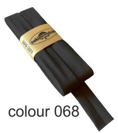 tricot biaisband | donkergrijs gemeleerd | col. 068
