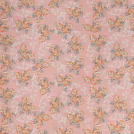 woven viscose | flowers pink | mia | Swafing