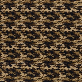 Katoen Print | Swafing -  Army  - Brown