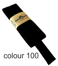 tricot biaisband | zwart | col. 000