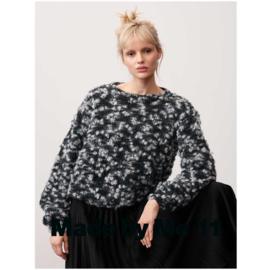 Fashion Alpaca Vibes Aran   Black - White