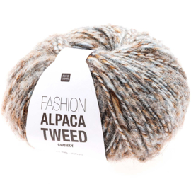 Rico Design   Fashion Alpaca Tweed Chunky - Brown - Blue 003