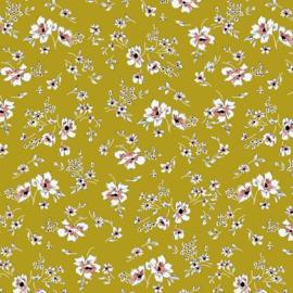 Tencel Modal Jersey | Flowers - Ochre