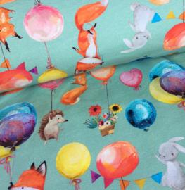 Tricot Print - Ilja Fabrics Amsterdam | Party Time - Mint
