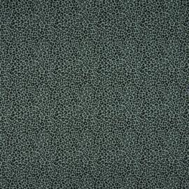 Tricot Print | Leopard - Dusty Mint