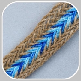 gevlochten band blauw/ 3 cm breed