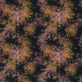 Katoen Print Swafing | Black - Ochre - Pink