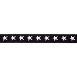 Elastiek Ster | 2,5 cm | Zwart