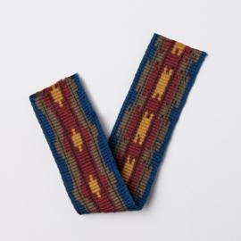 Band Jaquard | Folkland | blue - mustard - khaki | 4 cm breed