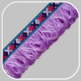 indianen band lila/ 40 mm