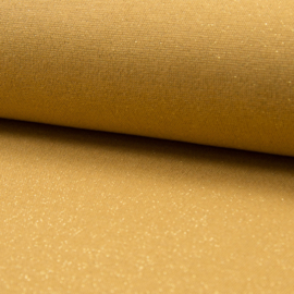 Tricot Boordstof | Glitter | Ocre - Gold 033