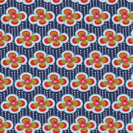 Katoen print | Fiona Hewitt | Fabulous Flowers - Navy