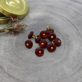 Atelier Brunette  Buttons |  Jewel - Amarante   9 mm