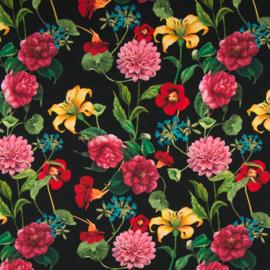 Tricot digitaal   Flowers on black background