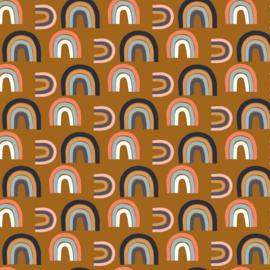 French Terry - Purring Fur - Rainbow - Orange