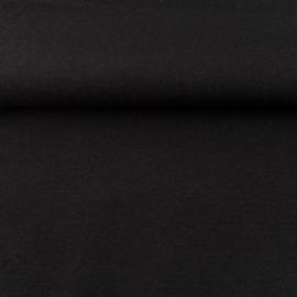 tricot boordstof uni | zwart