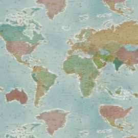 Decostof Canvas | World Map
